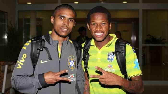 Дуглас Коста и Фред - первый востребован национальной сборной Бразилии, второй получил вызов под знамена Олимпийской дружины