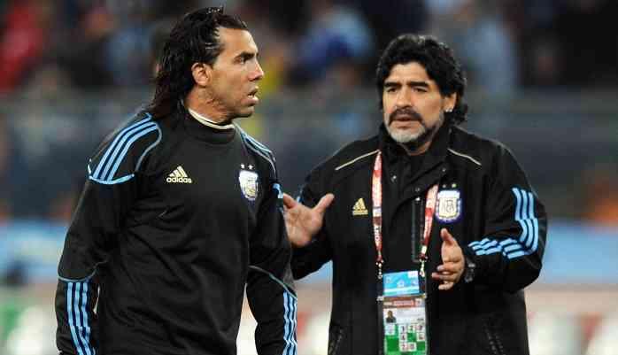 Диего Марадона и Карлос Тевес