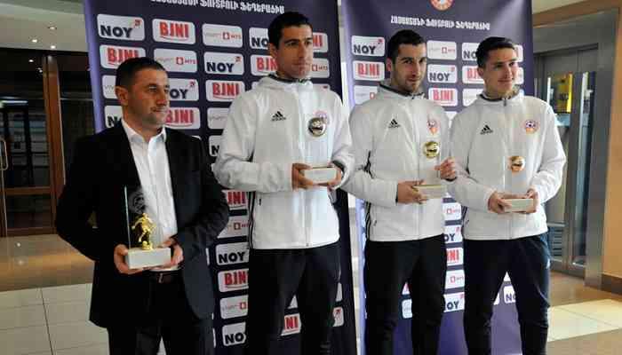 Мхитарян в седьмой раз стал лучшим игроком Армении